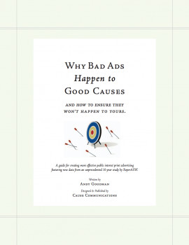 Why Bad Ads Happen to Good Causes